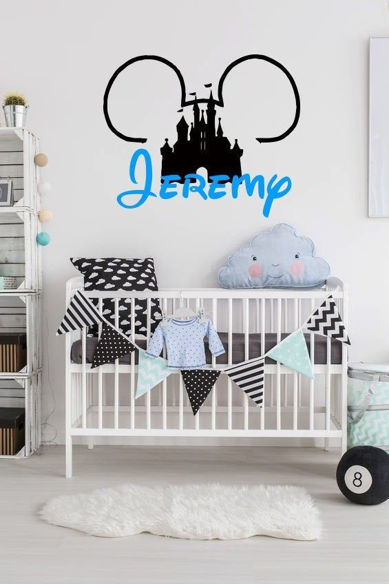 Personalized Name Wall Decal Disney