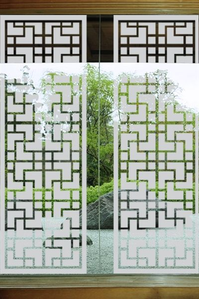 do-it-yourself wall decals Japanese Window - Glass Decals This would be nice for a toilet partition