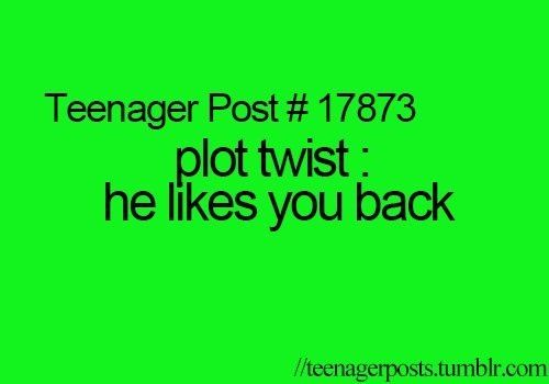 Yeah, like that has or will ever happen. I am cursed to not be liked back forever! (if that made any sense)