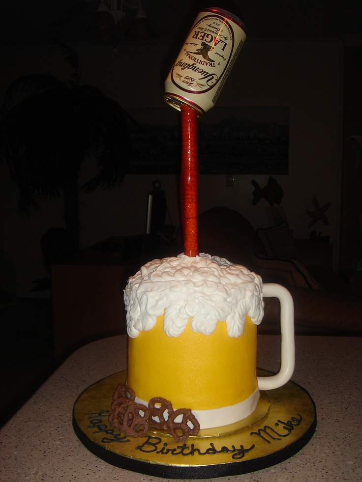 Beer Mug - Made this beer mug cake for a friend, with his ...