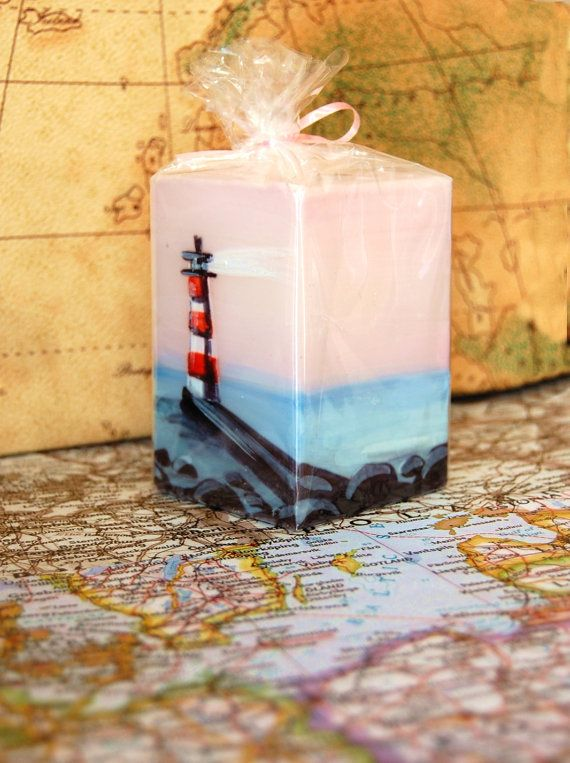 Handmade Candle Cube Sweet Travelers Memory  by LessCandles, $10.00
