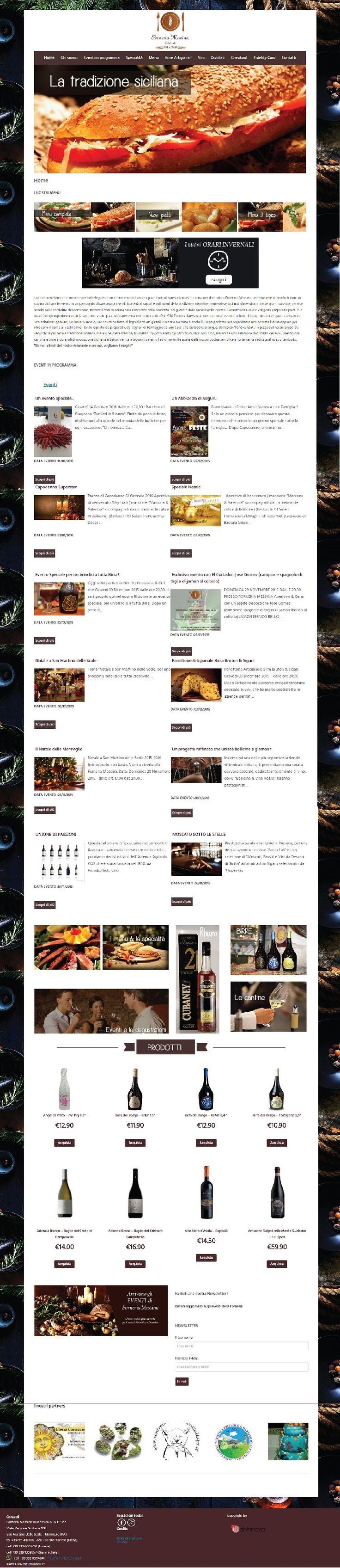 Sito #web realizzato con #Wordpress per la Forneria Messina a San Martino delle Scale