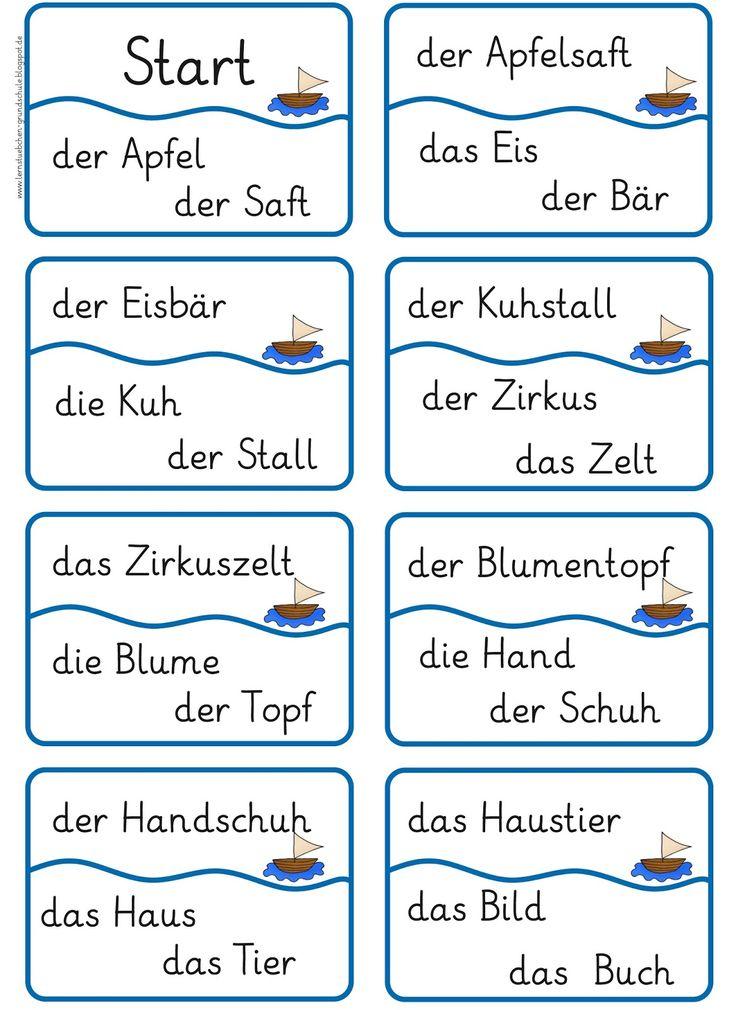 Lernstübchen: Lesespiel (3) Ik heb, wie heeft? Met samengestelde woorden!