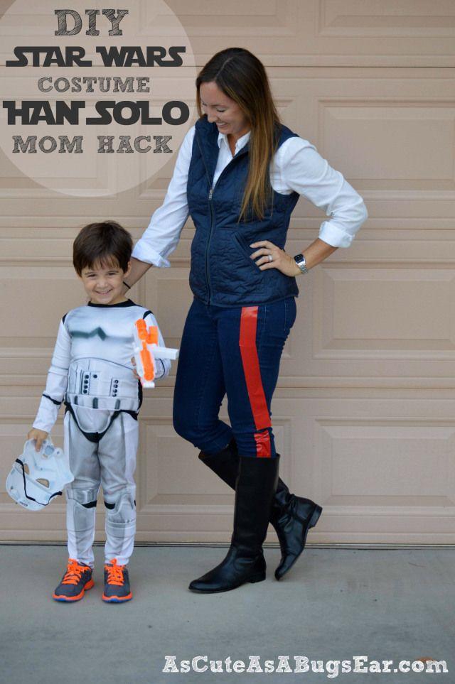 DIY Star Wars Costume: Han Solo Mom Hack | As Cute as a Bug's Ear