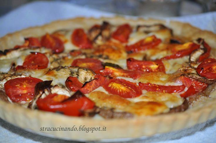 Angolo Cottura: TORTA SALATA CON MELANZANE, POMODORINI E MOZZARELL...