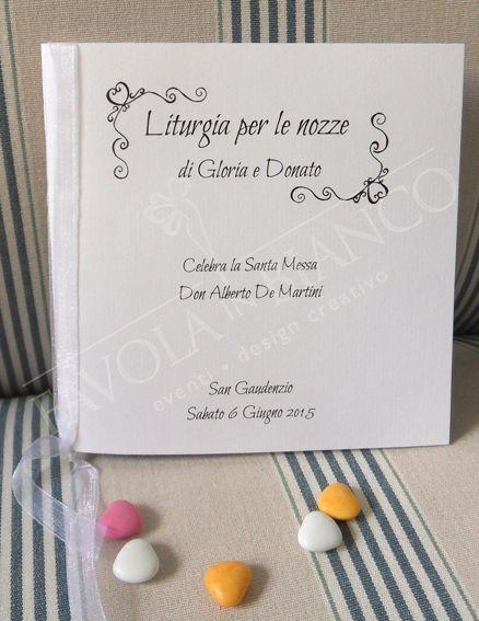 Booklet religious rite for marriage. Libretti messa per il tuo matrimonio
