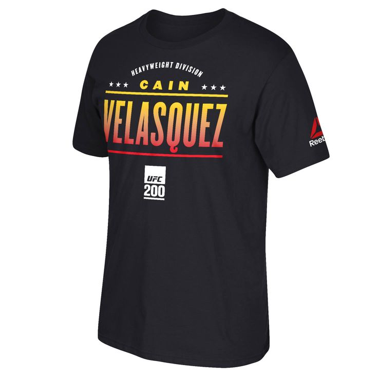 Cain Velasquez Reebok UFC 200 All-Star Series T-Shirt - Black - $21.84