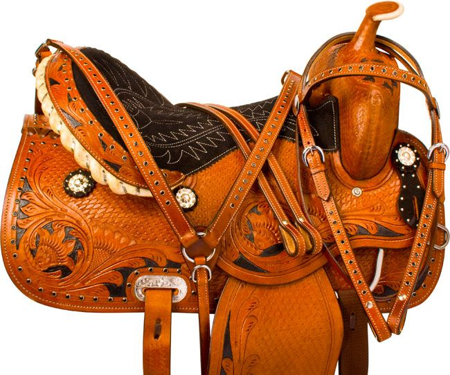 293 best cowgirl up images on pinterest horse horses and saddles black crystal barrel racing western horse saddle tack 14 16 fandeluxe Gallery