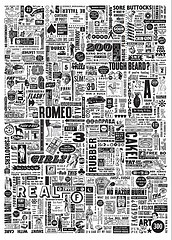 Typographic Spam Wallpaper by Mister Edwards'