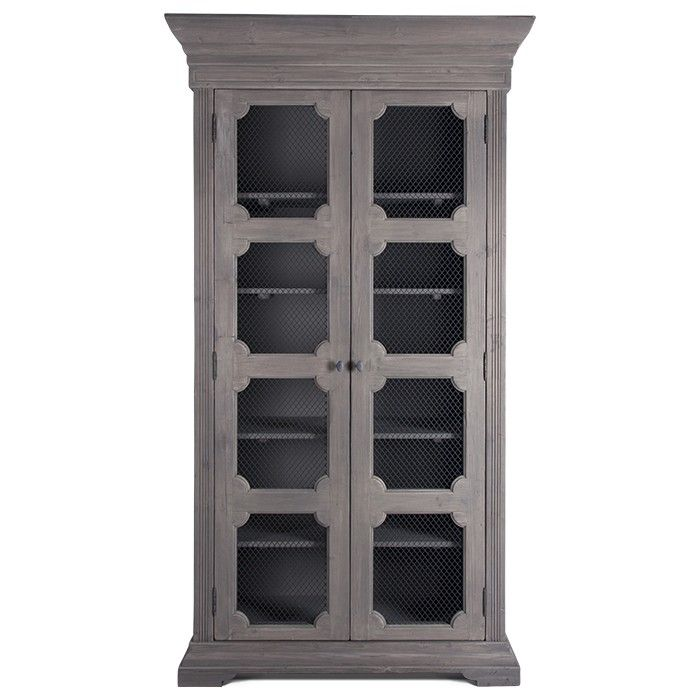 With Simply Carved Doors And Steel Mesh Insets The Evangeline French Country Cabinet I Shabby Chic Cabinet Beautiful Furniture Pieces French Country Furniture