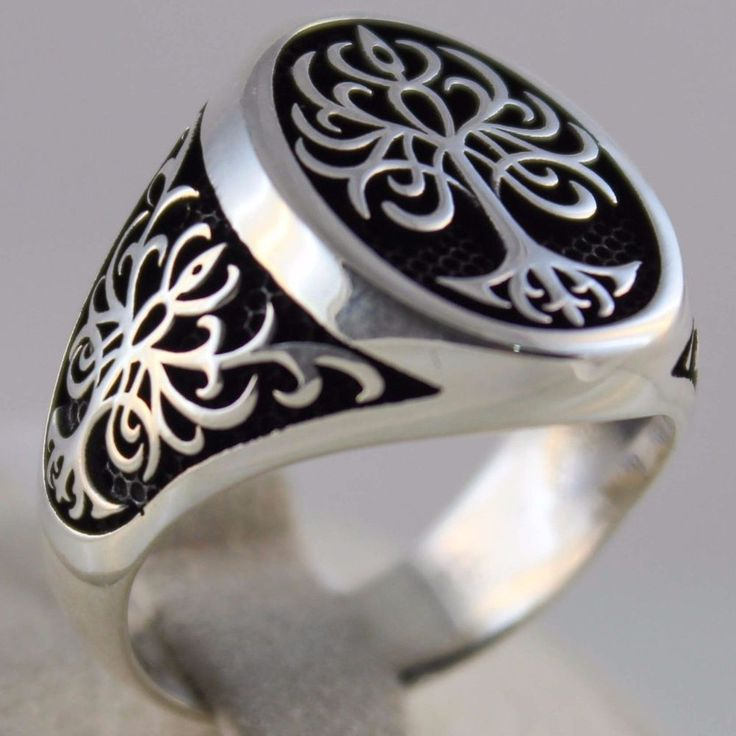 jewelry lis de mr sterling fleur ornament ring rings bronze adrian silver jewellery