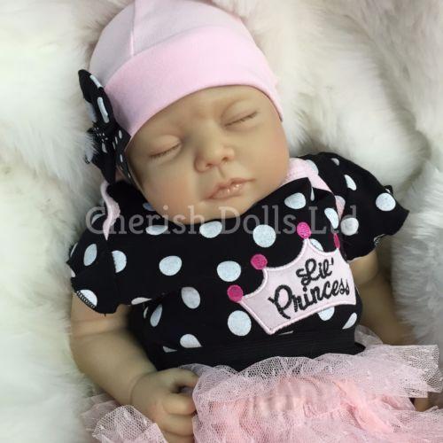 "REBORN DOLLS CHEAP BABY GIRL REALISTIC 22"" NEWBORN REAL LIFELIKE FLOPPY HEAD"