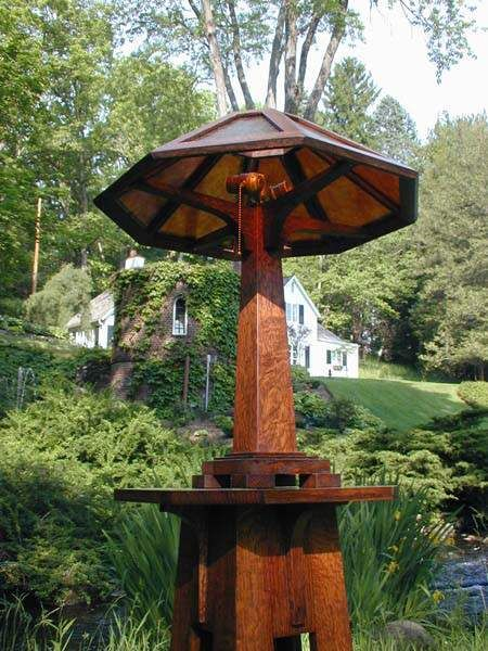 Craftsman Table Lamp | Mission Style Lamp Mica Shade