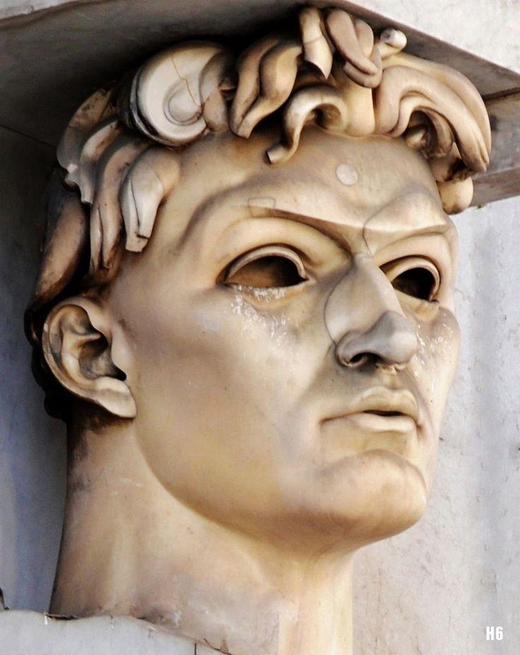 Damiano Chiesa. 1926-28.  Adolfo Wildt. Italian 1868-1931. marble. detail - part of The Bolzano Victory Monument. Bolzano. Italy.  QUEST FOR BEAUTY
