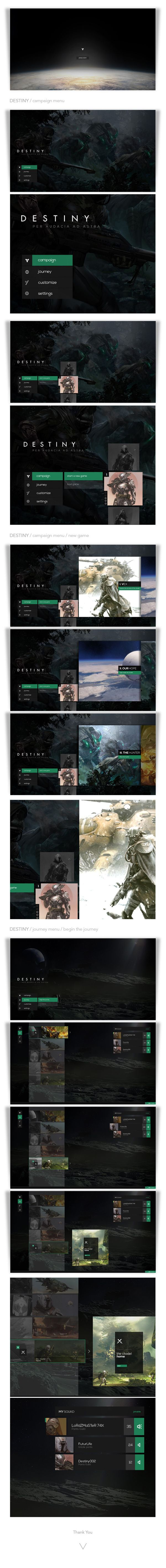 ( GUI ) Destiny / Interface by Lorenzo Carotenuto, via Behance