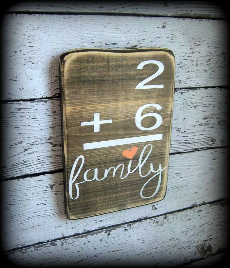 Family Number Sign,Flashcard Plaque,Custom Wood Decor,Math Sign,Gallery Wall Display,Personalized Wall Decor,Wood Word Art,Hand Painted Sign by SawdustAndSunshowers on Etsy https://www.etsy.com/listing/271429898/family-number-signflashcard-plaquecustom