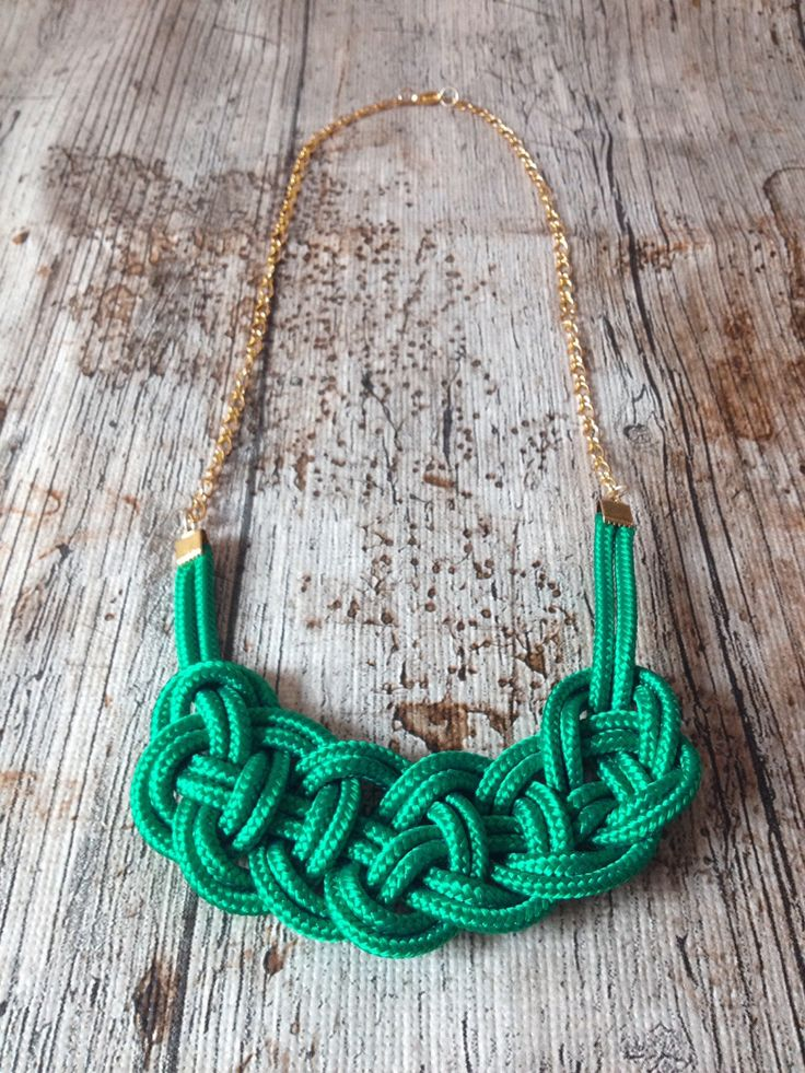 Rope necklace by Cziribu Follow me on https://www.facebook.com/cziribu
