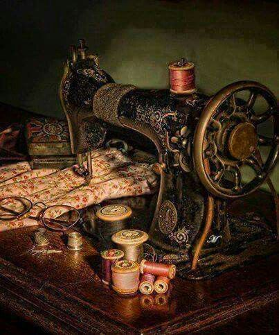 Old peddle sewing machine
