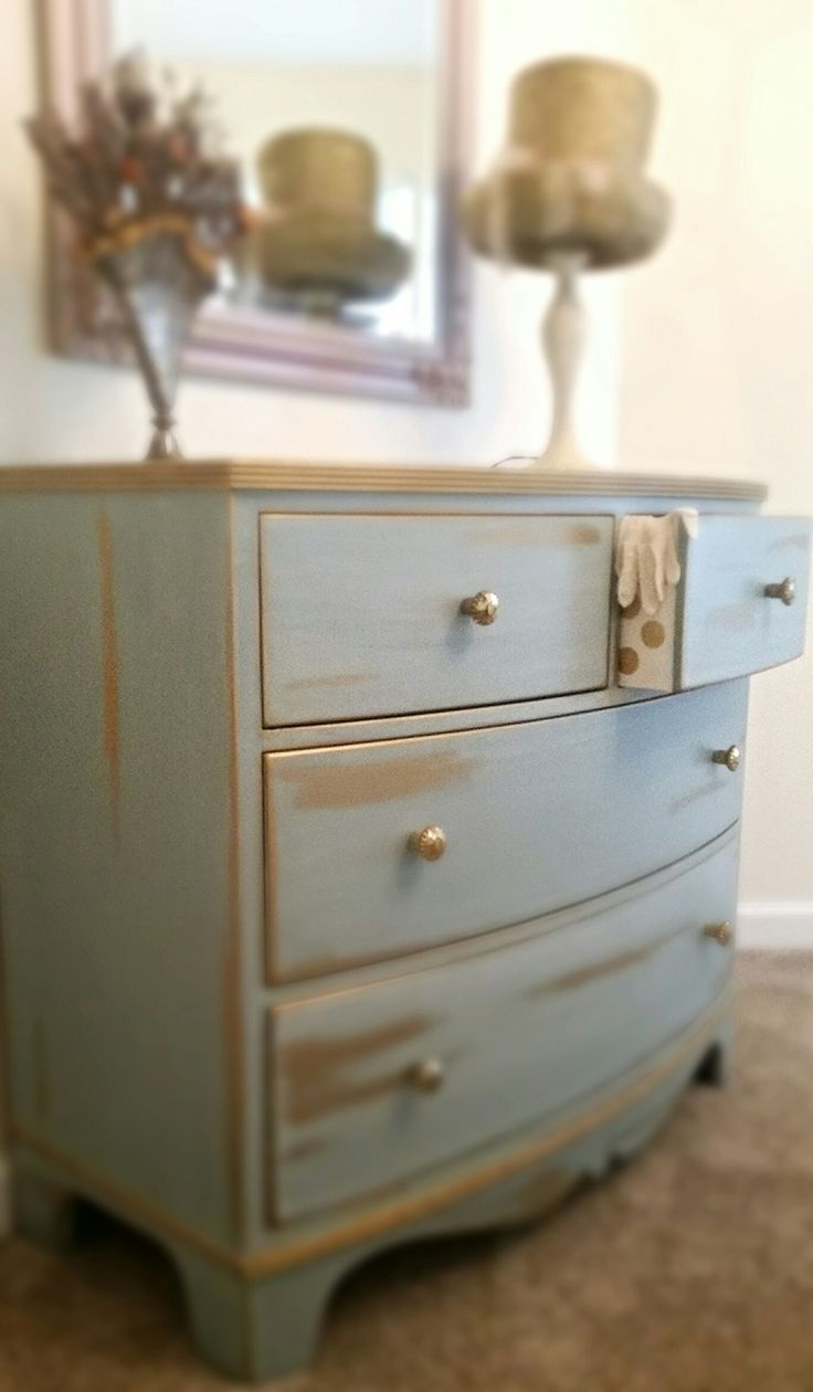 Painted with Persian Blue and Gold Rub N Buff. Love it!