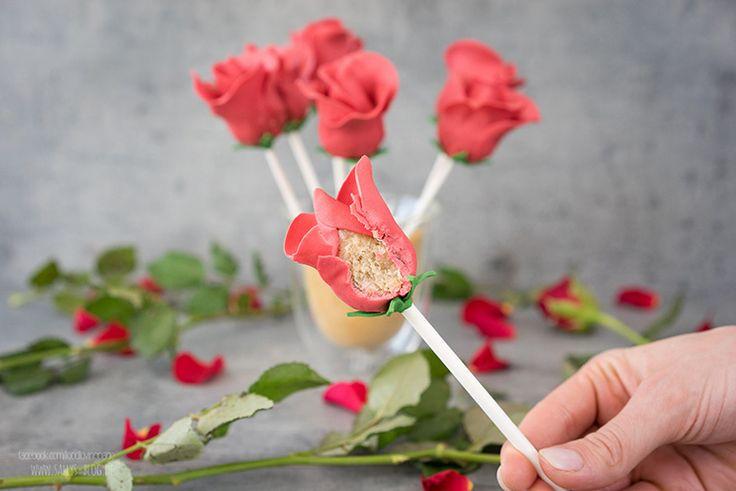 Rosen-Cakepops zum Muttertag