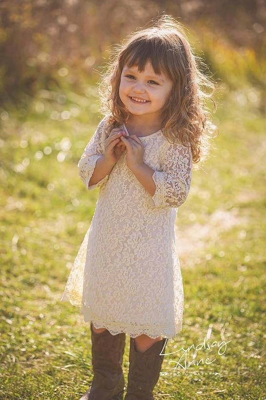 The Simply Ivory Lace Flower Girl Dress / http://www.deerpearlflowers.com/flower-girl-dresses-shops/3/
