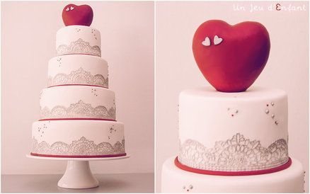 Heart & Lace Silver Wedding