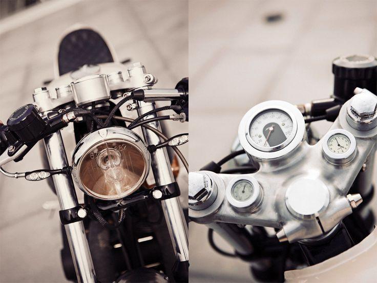 """Kuri Kuldnokk"" Honda CB500T by Renard Speed Shop  | megaphone by Fresco Exhaust | swingarm 70 mm longer | Motogadget gauges | Estonia"