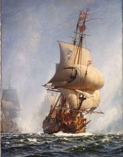 Mølsted Gennembruddet under Slaget paa Køge Bugt 1ste Juli 1677.jpg