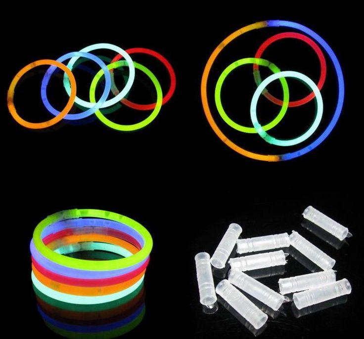 Resplandor de Neón de Luz de Flash con Conectores Palos Del Partido Suministra el juguete del Light-Up Juguetes