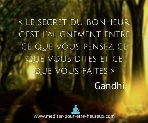Le secret du bonheur Gandhi