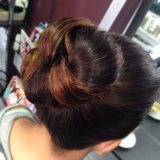 High formal bun done by the amazing team at #HairbyPHD #Parramatta