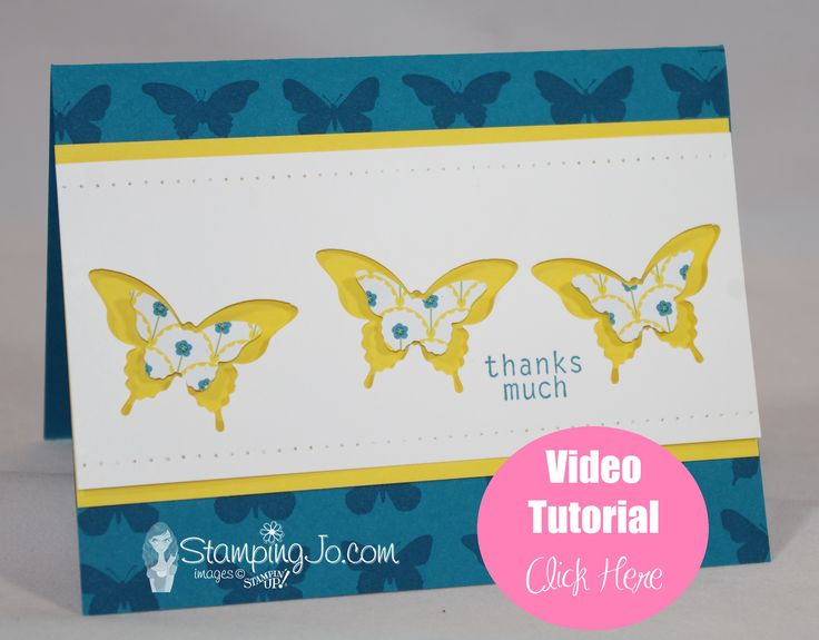 Not only will this video tutorial teach you how to make this card, but you'll get to learn how to use the Stamp-a-Ma-Jig and our Stampin' Around wheels.
