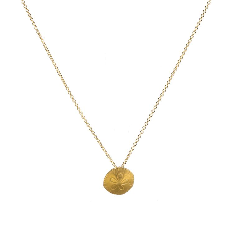 Sand Dollar Necklace, Gold Dipped   Dogeared