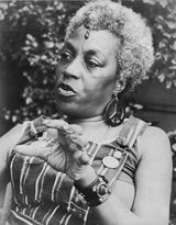 Florynce Kennedy  Known as a social activist, a feminist who was one of the founders of the National Organization for Women and a participant in the 1967 Atlantic City Miss America protest. She founded the National Black Feminist Organization in 1975 and published her autobiography in 1976.