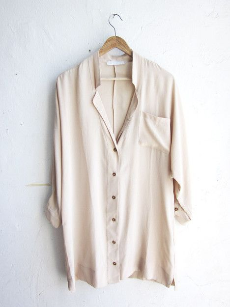 Cream Shirt: Staples, Fashion, Style, White Shirts, Classic White, Buttons, Silk Blouses, White Blouses, Silk Shirts