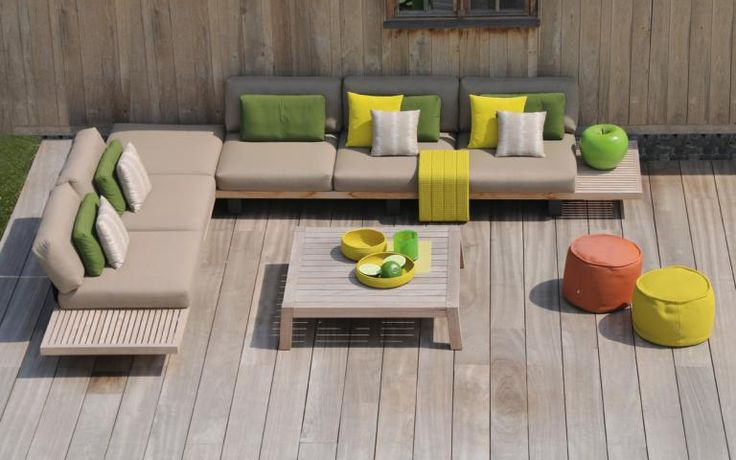 Ego modular lounge concept in aluminium teakwood outdoor lounging pinterest lounges - Sofa hedendaagse ...