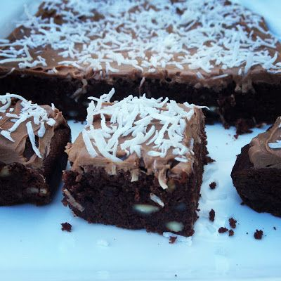 Gluten free Chocolate Slice Recipe. It is #grainfree #dairyfree #coconutsugar #healthy #superfoods #thermomix #baking #paleo