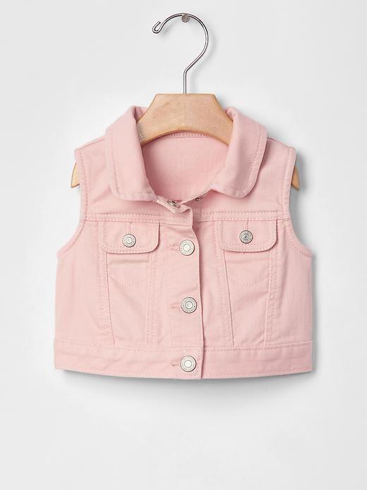 babyGap 1969 denim vest in pink cameo
