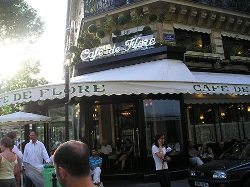Cafe de Flore - Perfect place in Paris for an omelet and a glass of champagne.