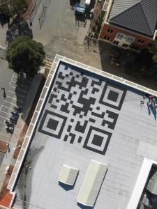 #Facebook employees take over Menlo Park campus with rooftop QR code #interesting #fb