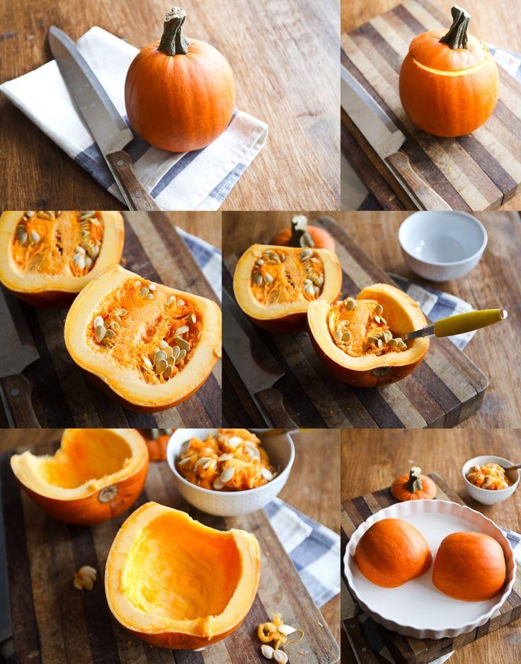 Mini Pumpkin Tarts (with homemade pumpkin puree)