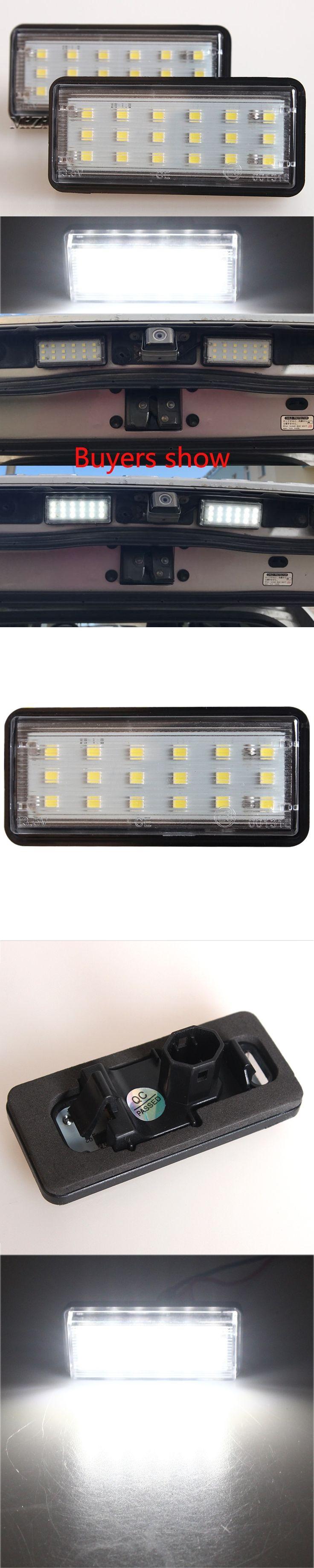 Error Free White Car LED Number License Plate Light Kit For Lexus LX470 GX470 Toyota Land Cruiser 120 Prado Land Cruiser 200