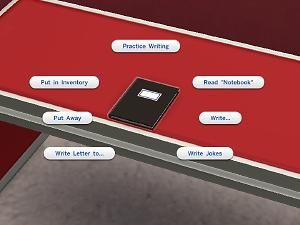 The Sims 4 | Notebook - A notebook for sims to practice writing, write letters and books, and some other things. | misc object mod #installed