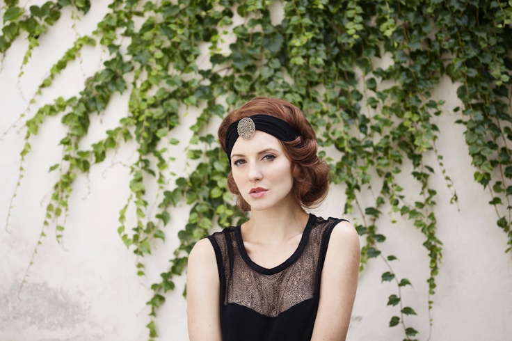 Loubna bronze, jewel headband