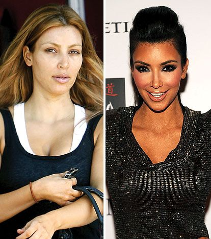 """Kim Kardashian      """"For fall makeup, I like to use a bit more color, a smoky eye and prominent liner,"""" the reality star tells Us."""