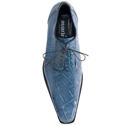 Carribean blue all over genuine Alligator /baby crocodile shoes