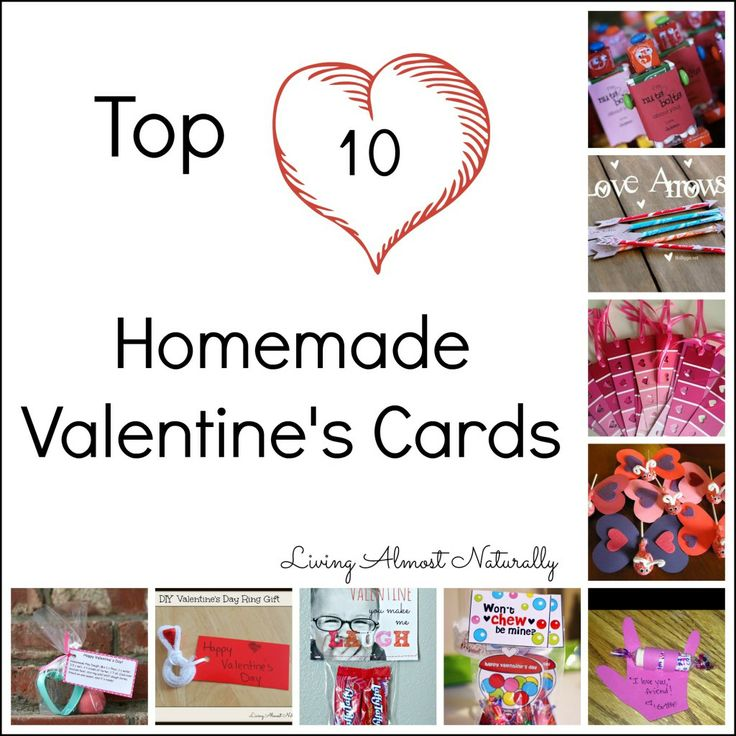 Top 10 Homemade Valentine's Cards #homemadevalentines #valentinesday #holidays