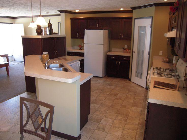 Open Modular Kitchen : Open Kitchen in Fairmont modular home.  Prefab Homes- Modular Homes ...