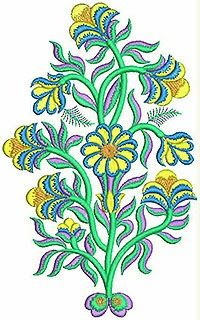 Gorgeous Green kleur blomme Welly ontwerp Patch