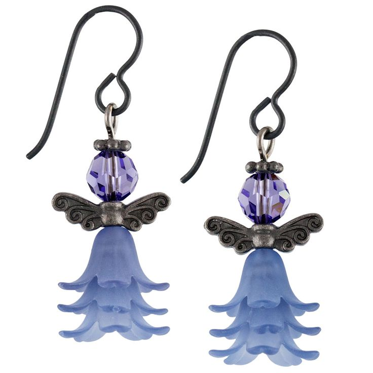 Angel of the Garden Earrings | Fusion Beads Inspiration Gallery Niobium earwires.... endless color pairings. Quick & easy